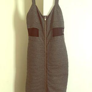 Express gray midi bodycon dress.