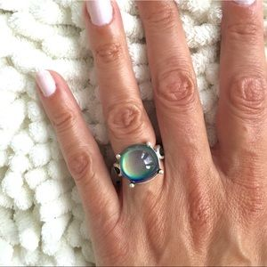 LINK BAND ROUND MOOD RING