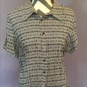 Lane Bryant short sleeve dress blouse