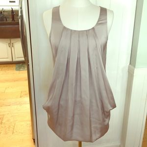 Bubble hem 2 pocket H&M silver pewter dress