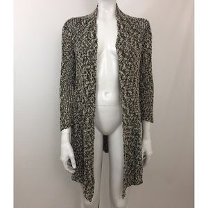 Eileen Fisher Knit Open Front Long Cardigan XS