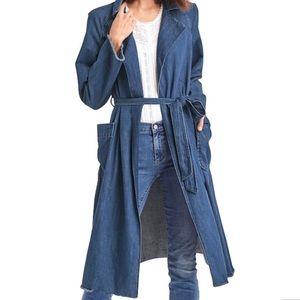 Gap long denim coat