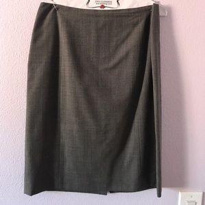 Gray Ann Taylor wool skirt