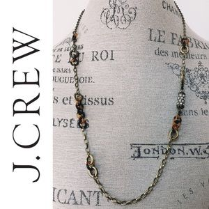 J. Crew chain link tortoise shell necklace