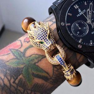 Other - Leopard Natural Stone Bracelet