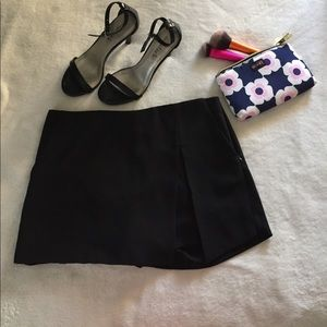 Black skort with front slit