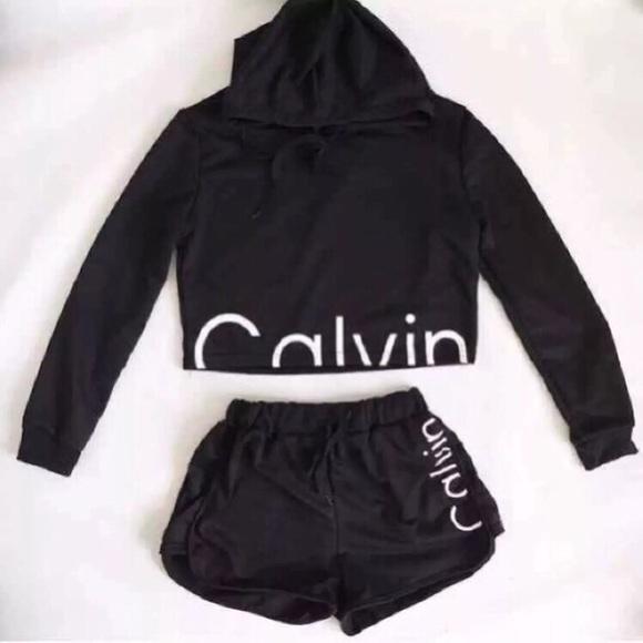 331d847ad Calvin Klein Hoodie & Shorts Set. M_59c9728041b4e0273508bbef