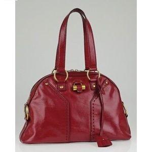 Saint Laurent Muse Patent Large Shoulder Bag