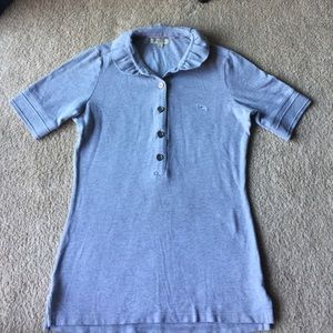 Authentic Burberry London Ruffled Neck Polo Size S