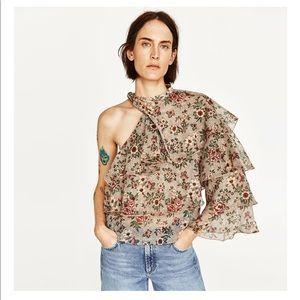 Zara floral printed top