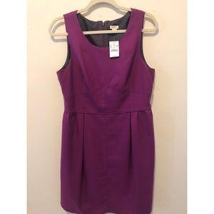 NWT J.Crew Wool Purple Dress Sz 12