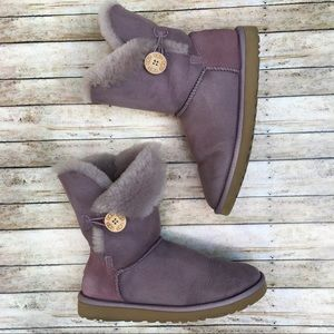 UGG Bailey Button Purple Boots