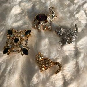 Jewelry - FOUR BROACHES.