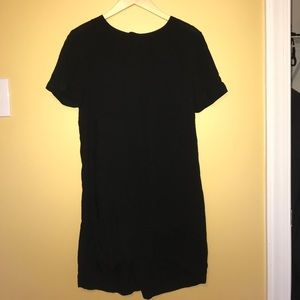 Black High/Low Dress with Key Hole