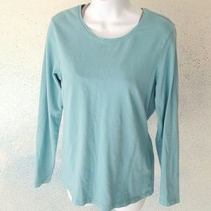 Old Navy authentic long sleeve shirt turquoise