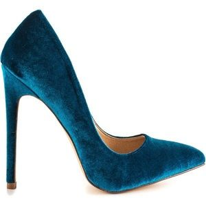 Shoes - Liliana Teal faux suede pumps