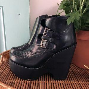 Jeffrey Campbell Buckle Platform Boots