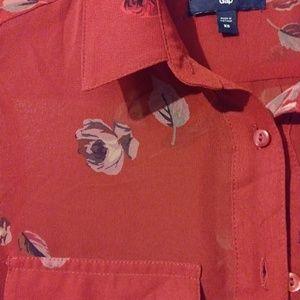 Rose red GAP blouse