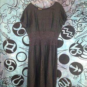 Vintage beautiful lace and silk black dress