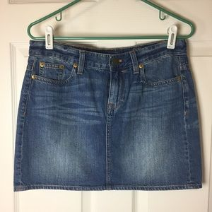 J. Crew indigo denim mini size 29 NWT