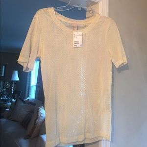 Ivory H & M patterned tee