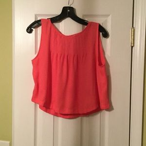 Flowy beautiful color crop top blouse.