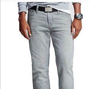 Men's Mossimo Gray Stretch Slim Denim Jeans