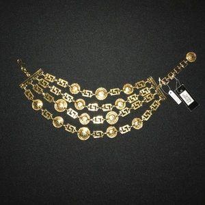 Vintage Versace medallion chocker necklace