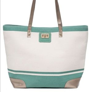 Thursday Friday Gold Toe Tote Creme De Menthe