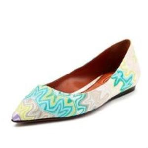 Missoni multicolor pointed toe flat