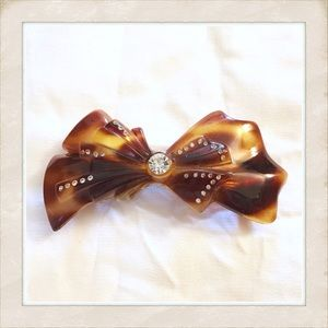 Fab 1970's Vintage Glam Large Barrette, Made in FR