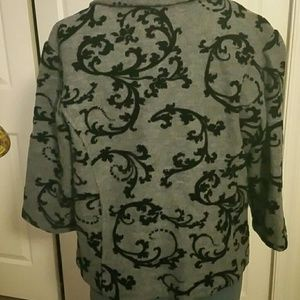 Coldwater Creek Jackets & Coats - BOG2 Gray Blazer w/ Raised Black Flourish