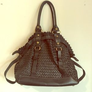 Francesco Biasia Woven Italian Leather Tote