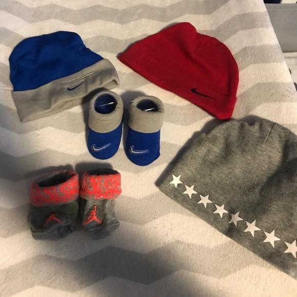 ae348e9c Nike Accessories | Baby Boy Converse Hats Booties Never Worn | Poshmark