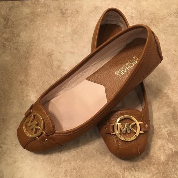 Michael Kors Shoes | Mk Leather Flats