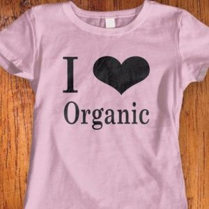 New Organic Love Tshirt. Available in 9 colors
