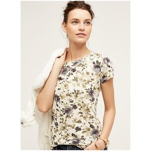 Anthropologie Flowers Day Tee NWT
