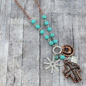 Cross Bronze Necklace