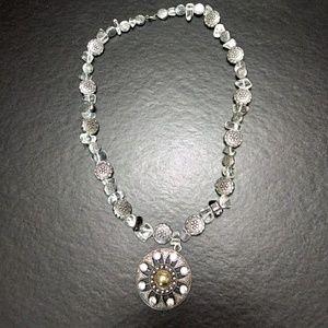 Silver tone necklace