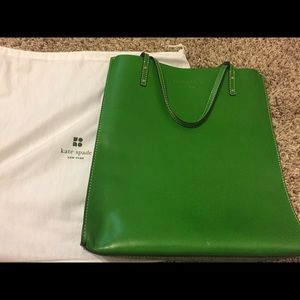 Kate Spade Large Leather Tote - Green