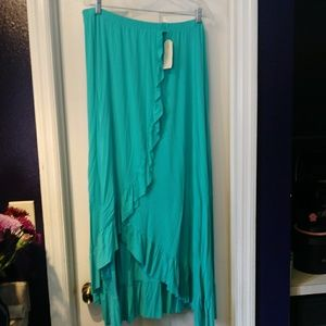 French Connection New Ruffle Long Skirt 2x