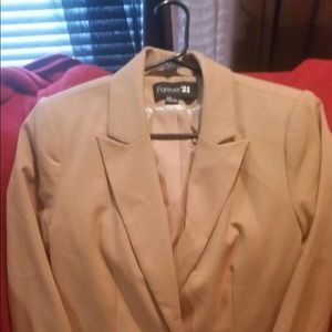 Forever 21 brown and white blazer