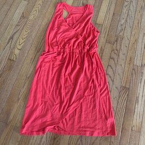 Racerback faux wrap dress