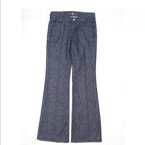 7FAM Jeans Dark Wash Flared Size 26