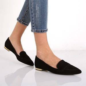 Schutz Elise Flat in Black