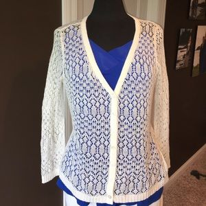 Cabi ivory button front top