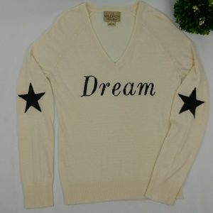 "WILDFOX White Label ""Dream"" sequin sweater SZ L"