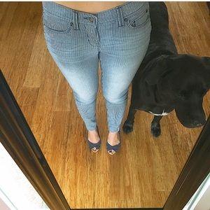 Navy pinstripe jeans