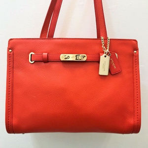 Coach Swagger Pebble Tote Satchel in Watermelon