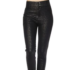 LAST ONE!!  Lace Print Faux Leather Pants